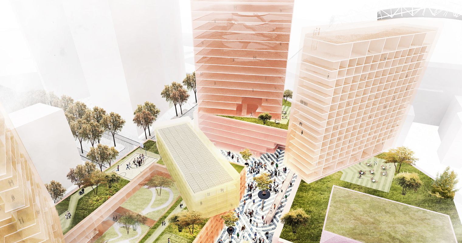 MVRDV designs Urban Interactive District situated next to the Johan Cruijff ArenA in Amsterdam